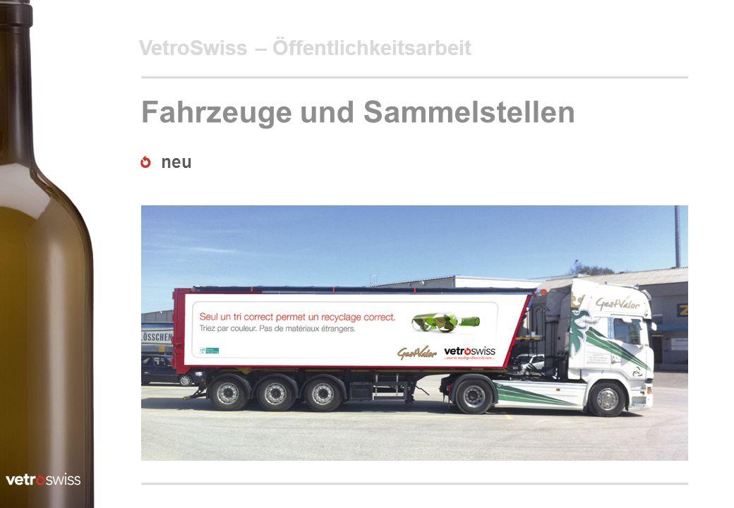 Fahrzeuge und Sammelstellen