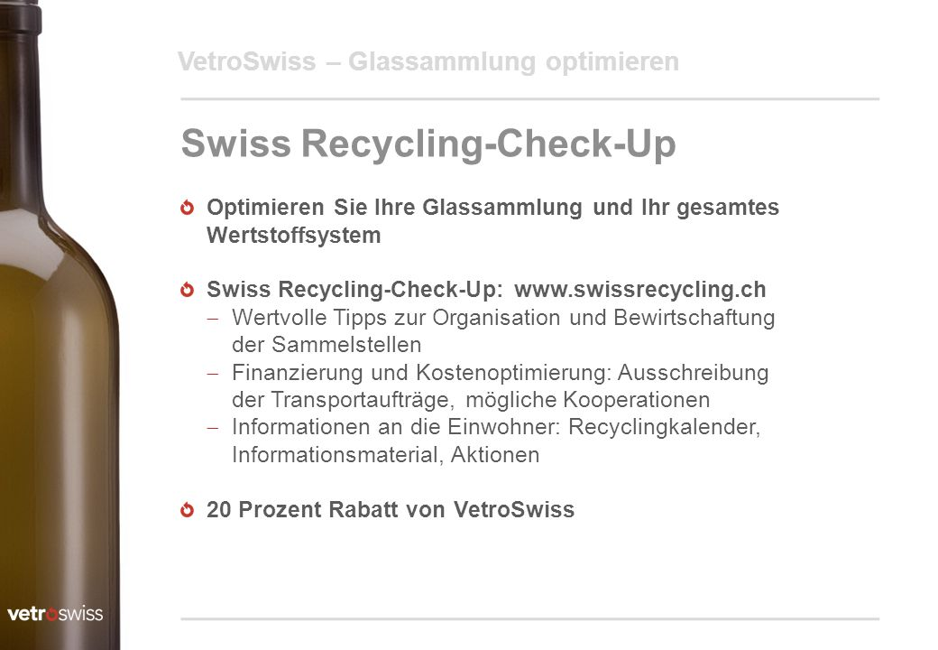 Swiss Recycling-Check-Up
