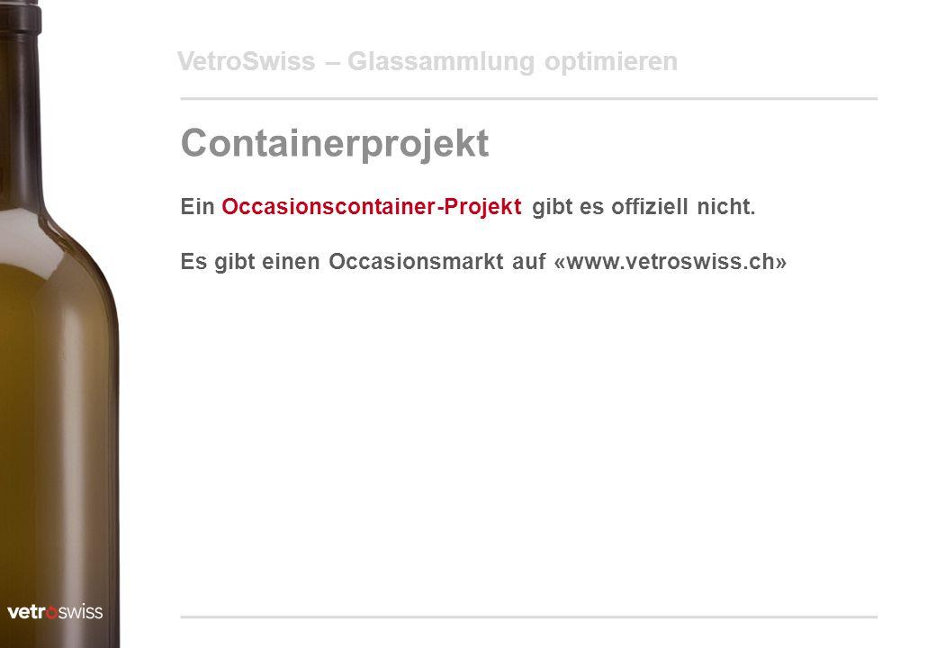 Containerprojekt VetroSwiss – Glassammlung optimieren