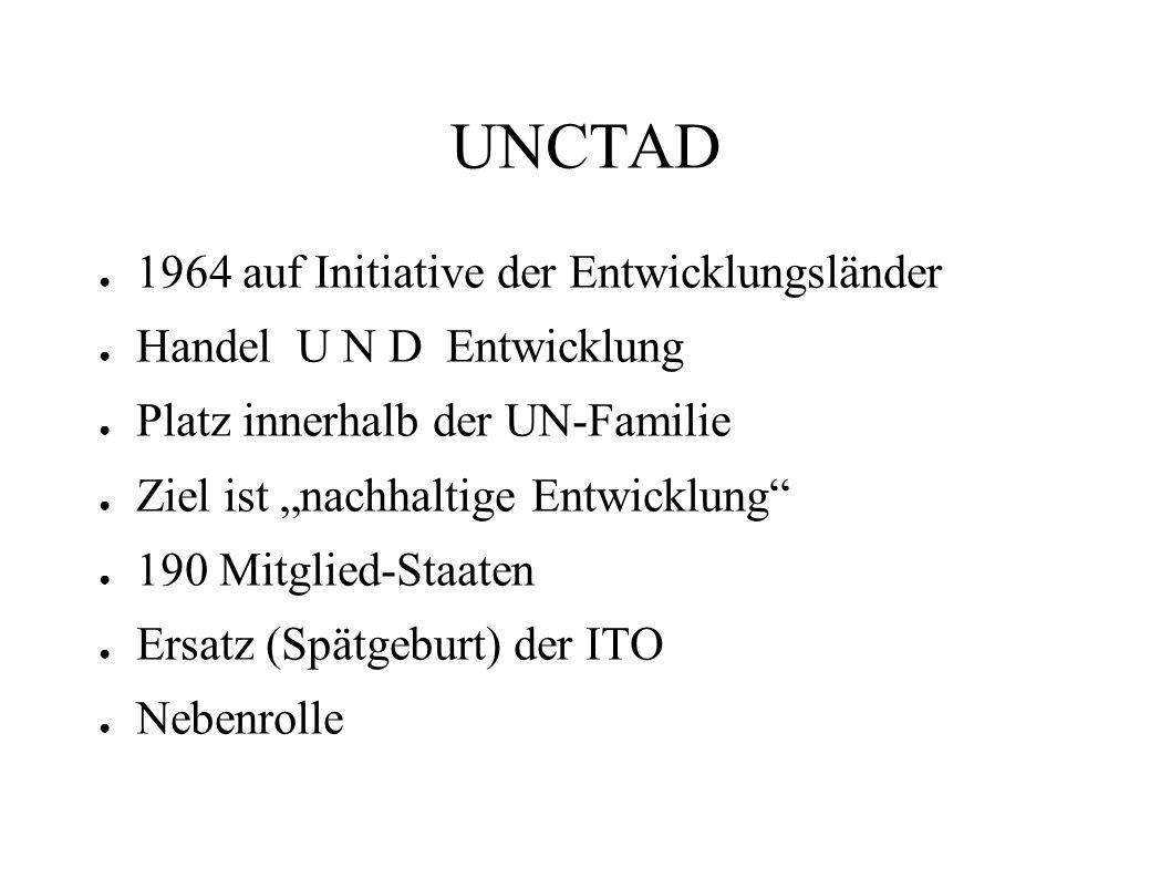 UNCTAD 1964 auf Initiative der Entwicklungsländer