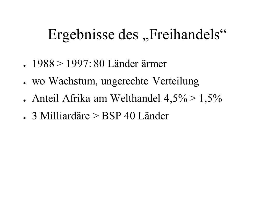 """Ergebnisse des """"Freihandels"""