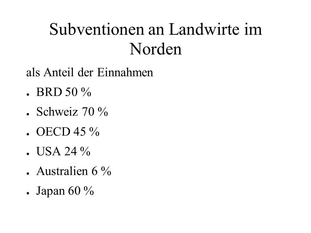 Subventionen an Landwirte im Norden