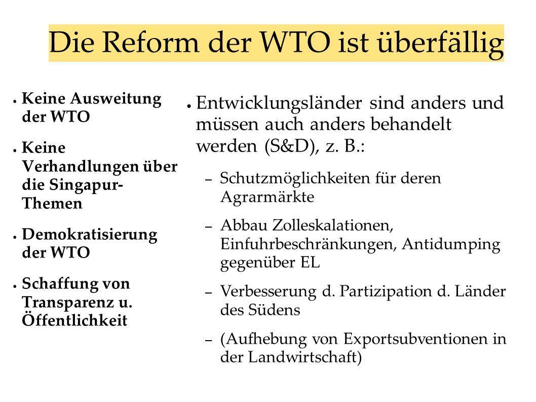 Die Reform der WTO ist überfällig