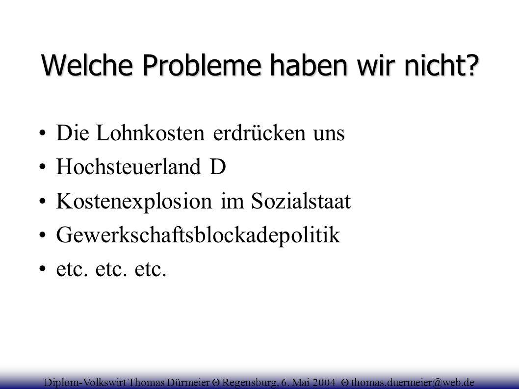 Welche Probleme haben wir nicht