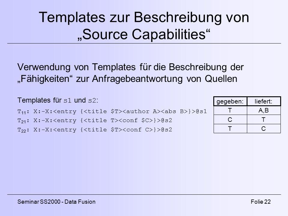 """Templates zur Beschreibung von """"Source Capabilities"""