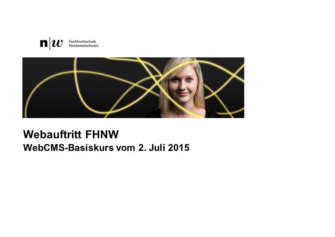 WebCMS-Basiskurs vom 2. Juli 2015