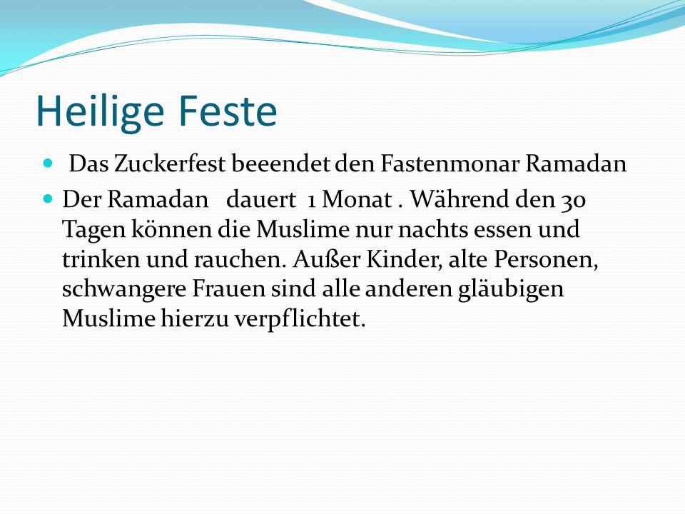 Heilige Feste Das Zuckerfest beeendet den Fastenmonar Ramadan