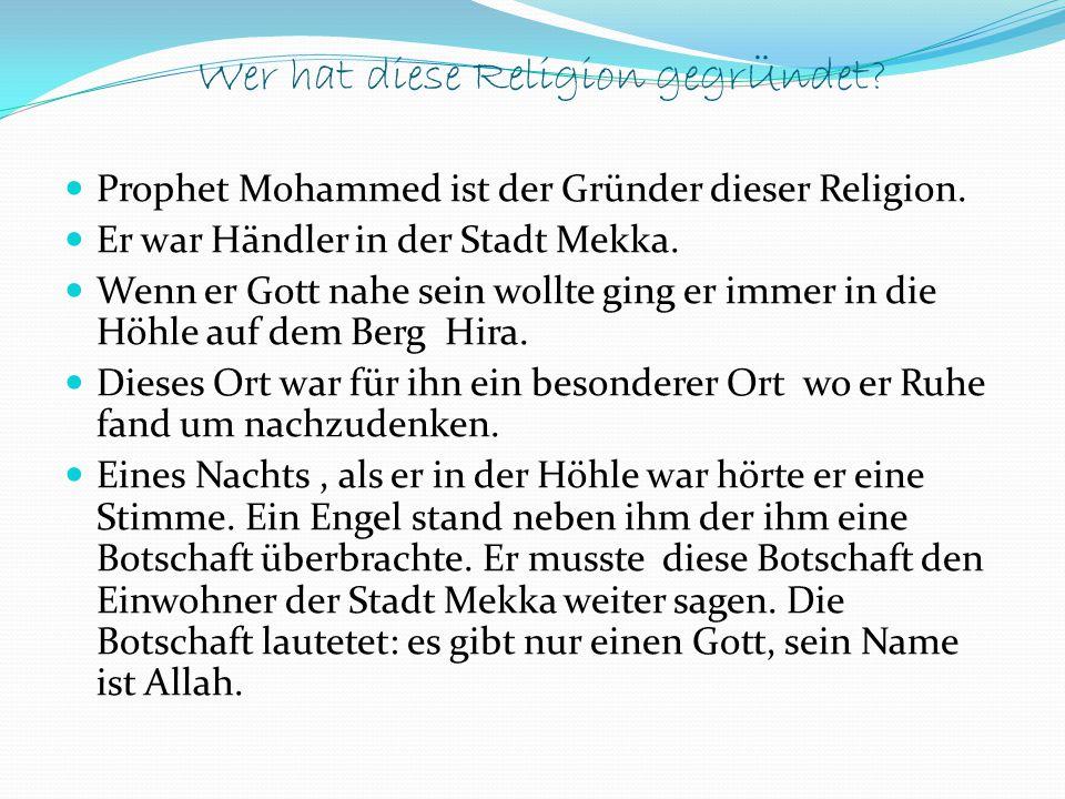 Wer hat diese Religion gegrÜndet