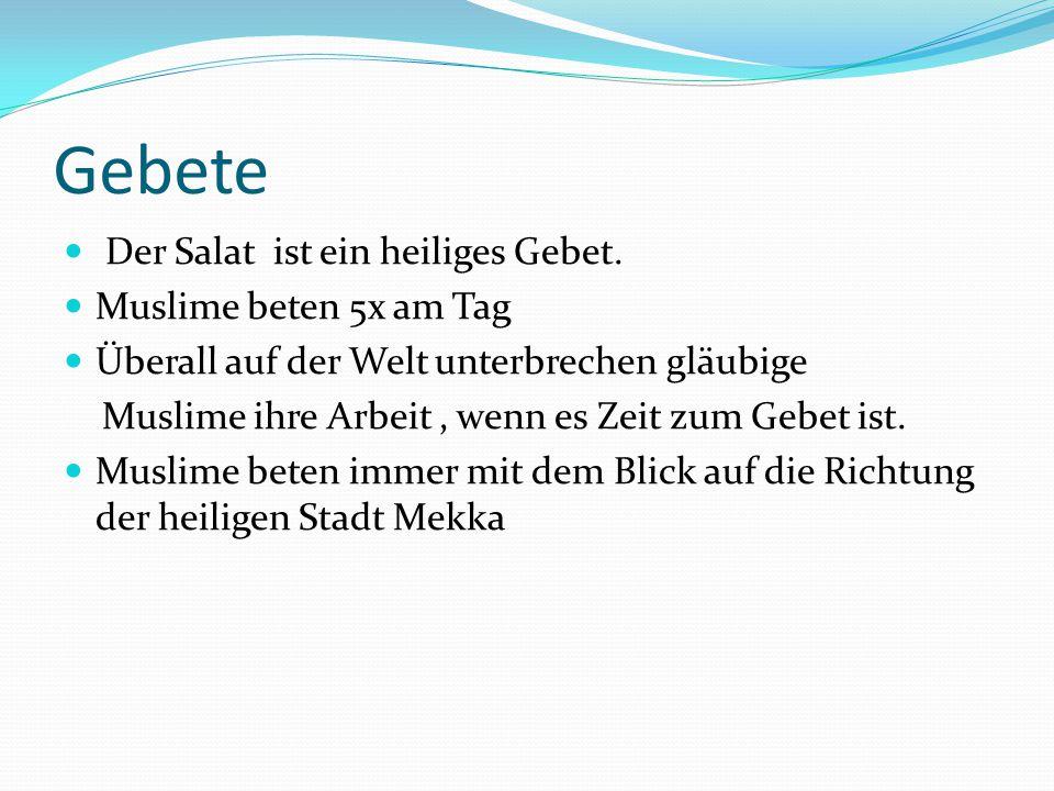 Gebete Der Salat ist ein heiliges Gebet. Muslime beten 5x am Tag