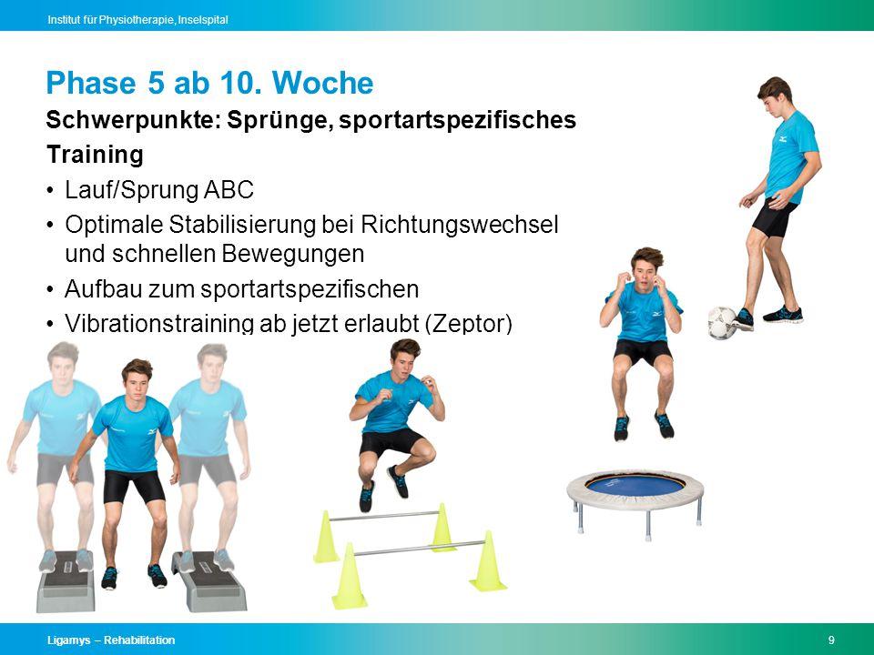 Phase 5 ab 10. Woche Schwerpunkte: Sprünge, sportartspezifisches