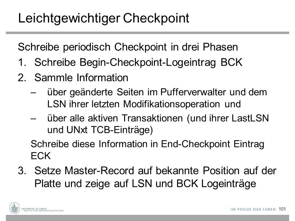 Leichtgewichtiger Checkpoint