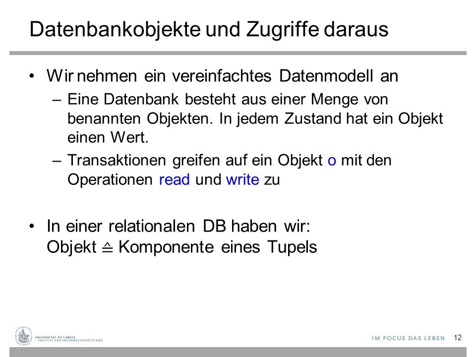 Datenbankobjekte und Zugriffe daraus