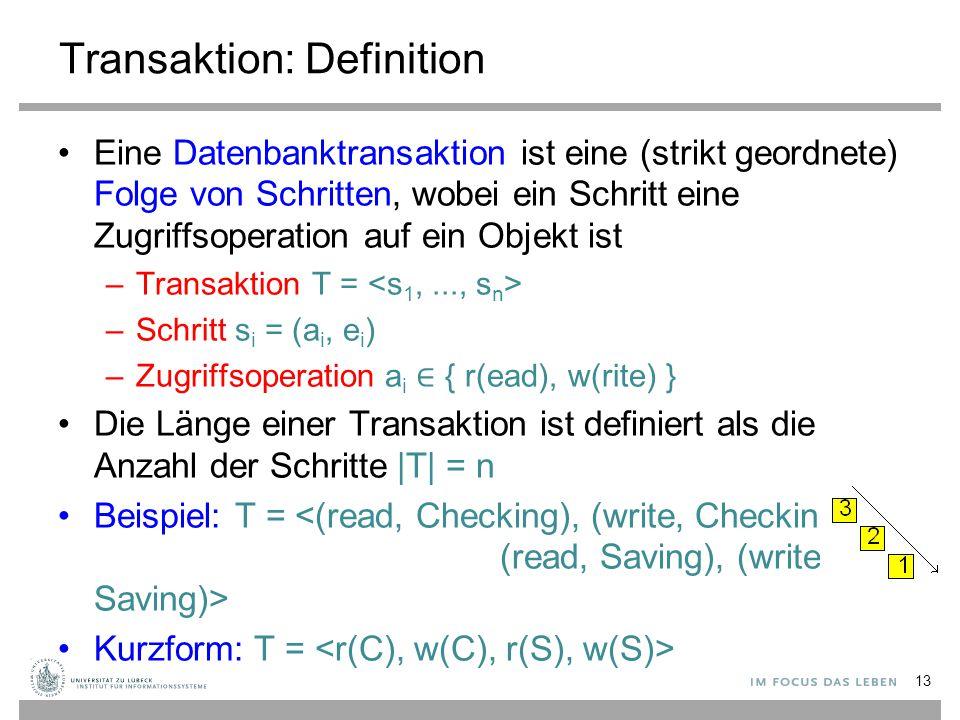 Transaktion: Definition