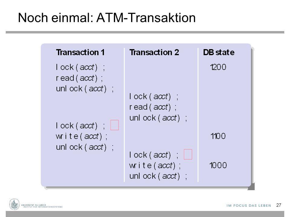 Noch einmal: ATM-Transaktion