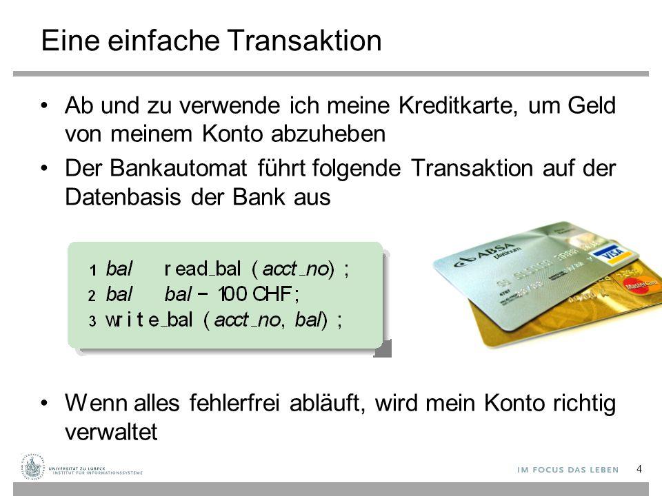 Eine einfache Transaktion