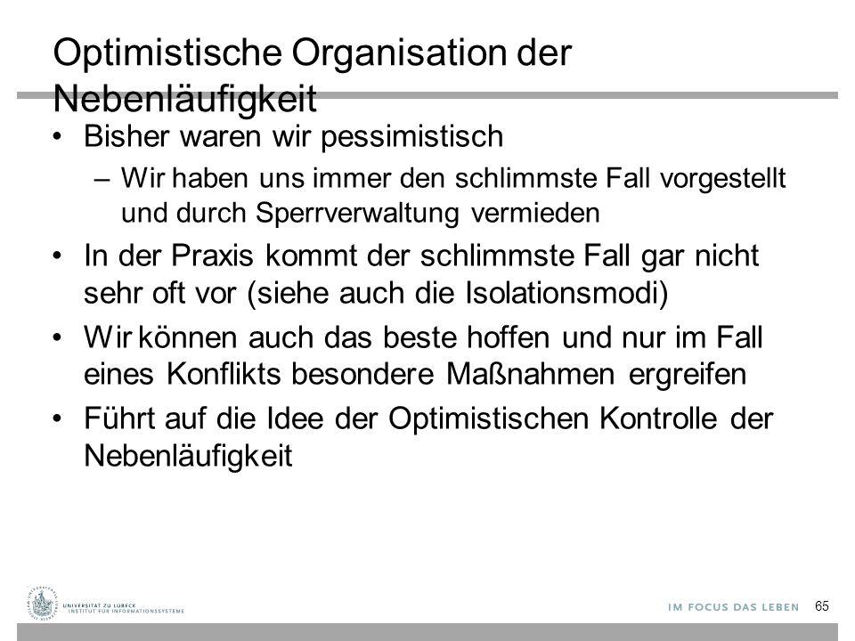 Optimistische Organisation der Nebenläufigkeit