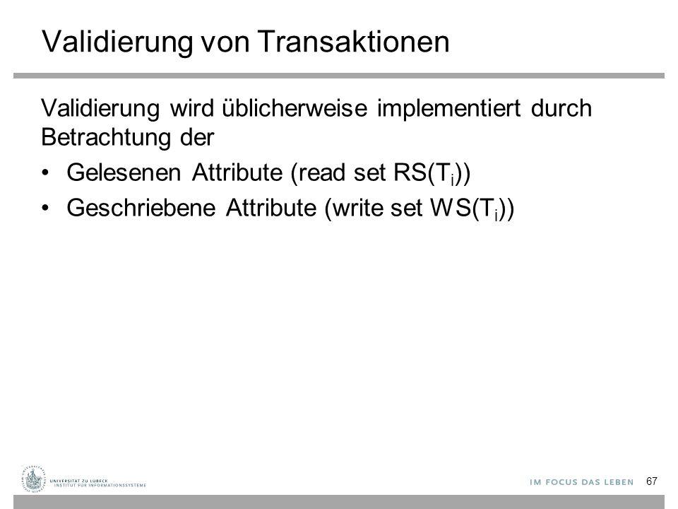 Validierung von Transaktionen