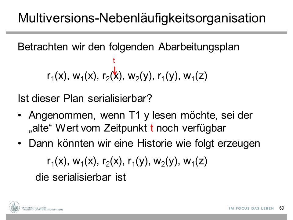 Multiversions-Nebenläufigkeitsorganisation