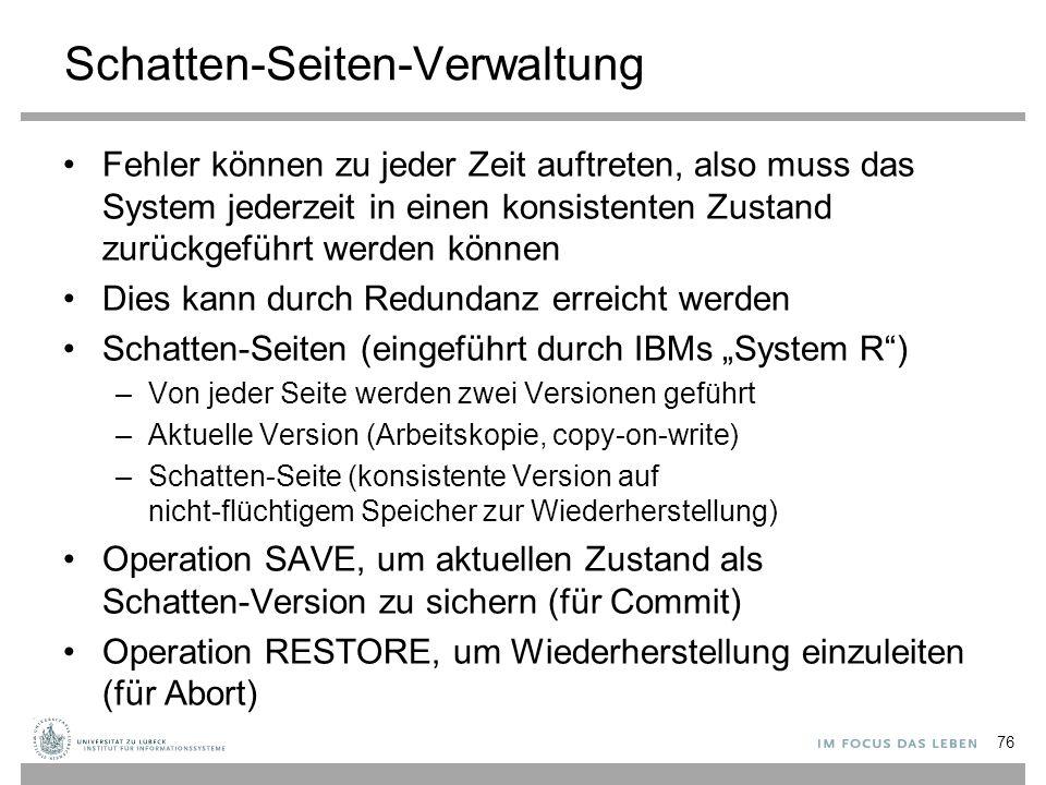 Schatten-Seiten-Verwaltung
