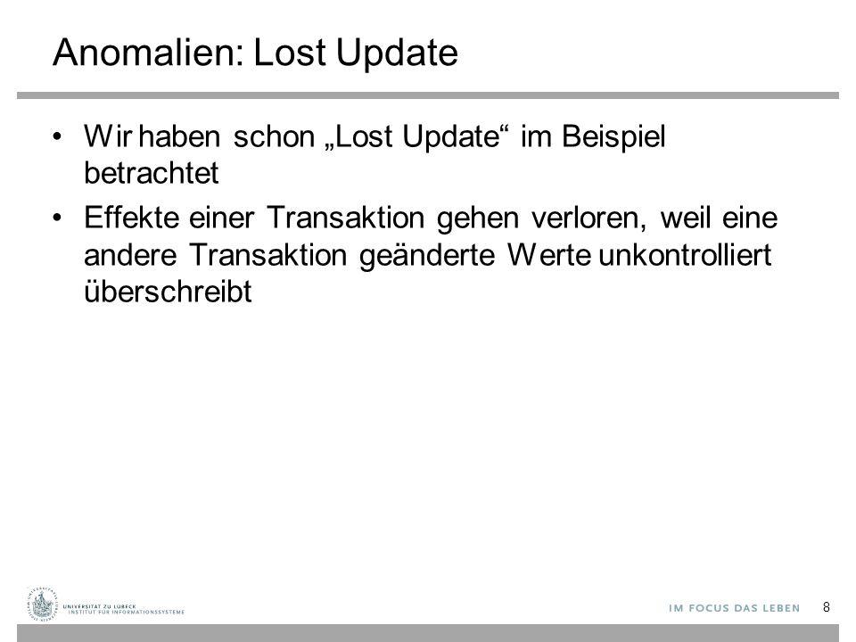 Anomalien: Lost Update