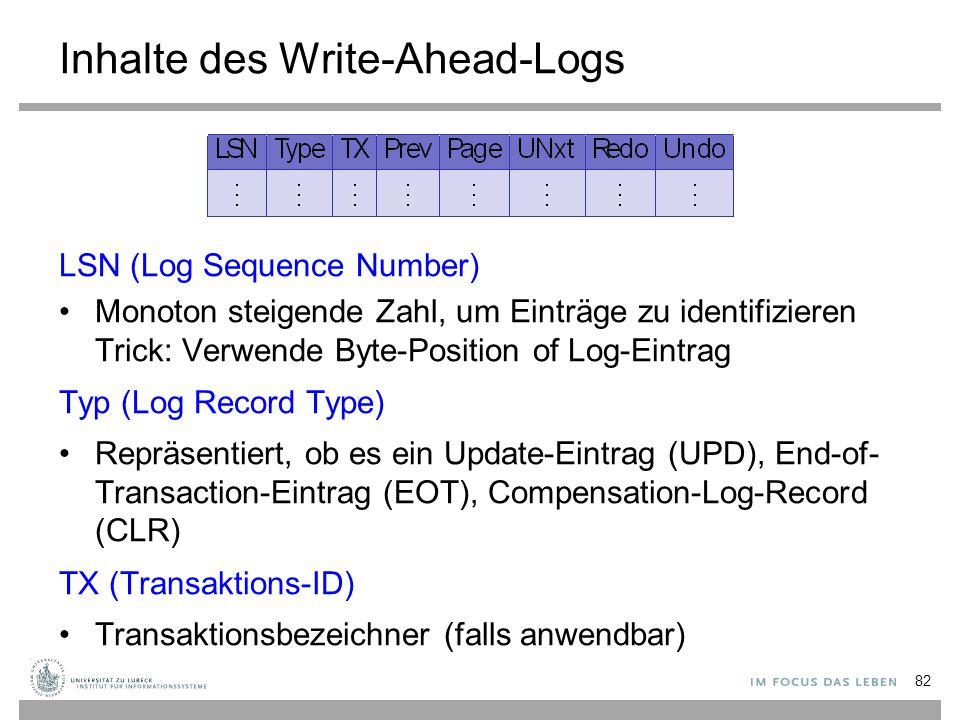 Inhalte des Write-Ahead-Logs
