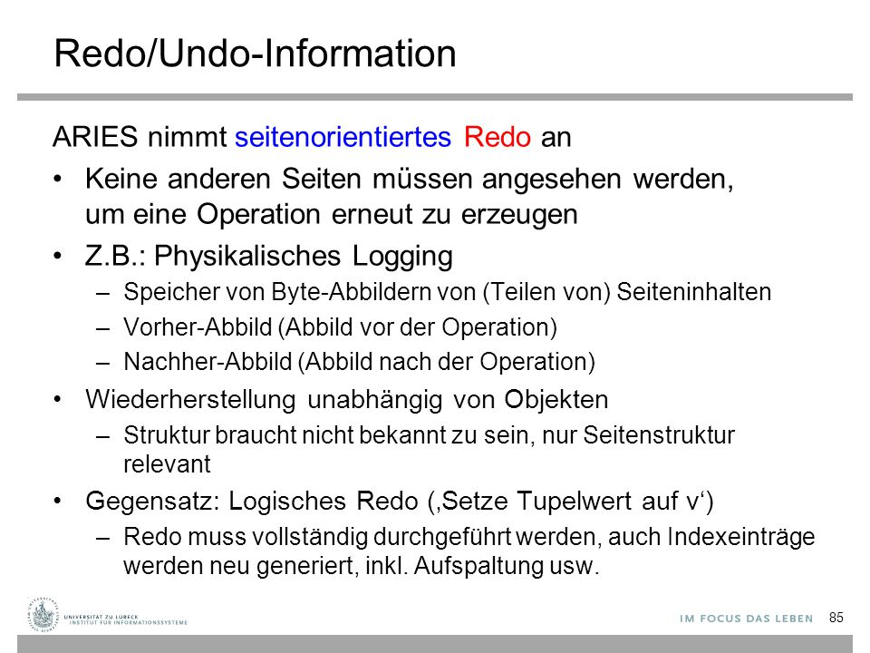 Redo/Undo-Information