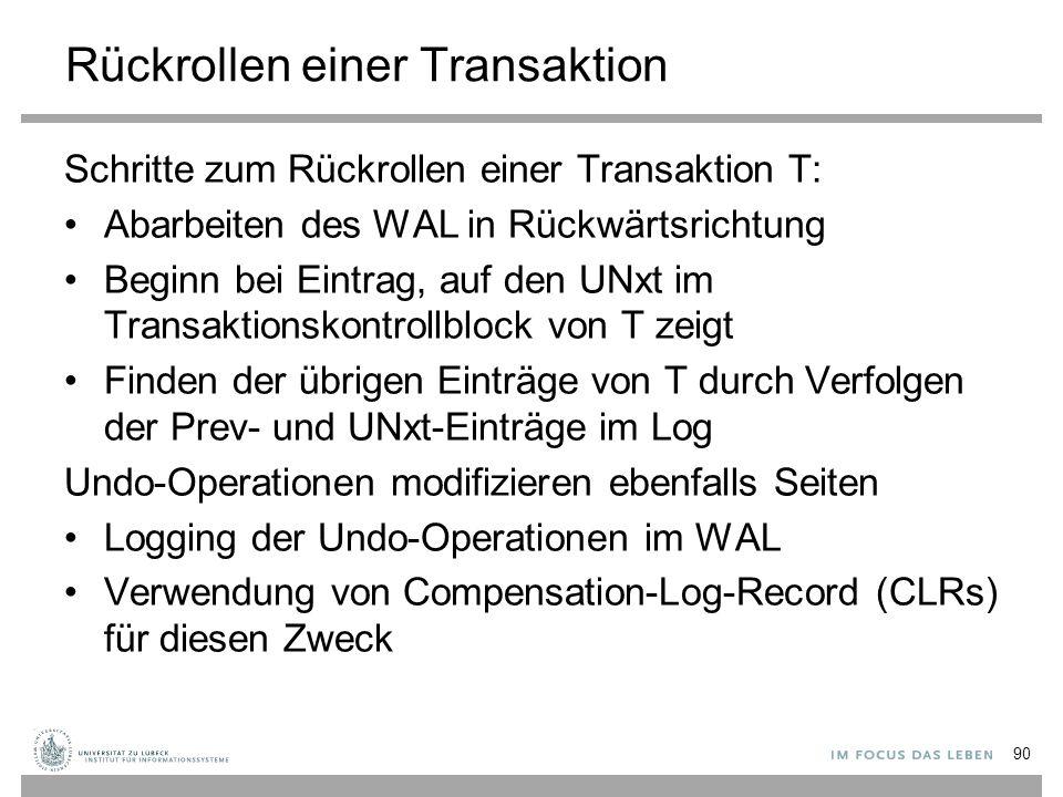 Rückrollen einer Transaktion