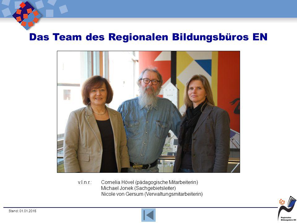 Das Team des Regionalen Bildungsbüros EN