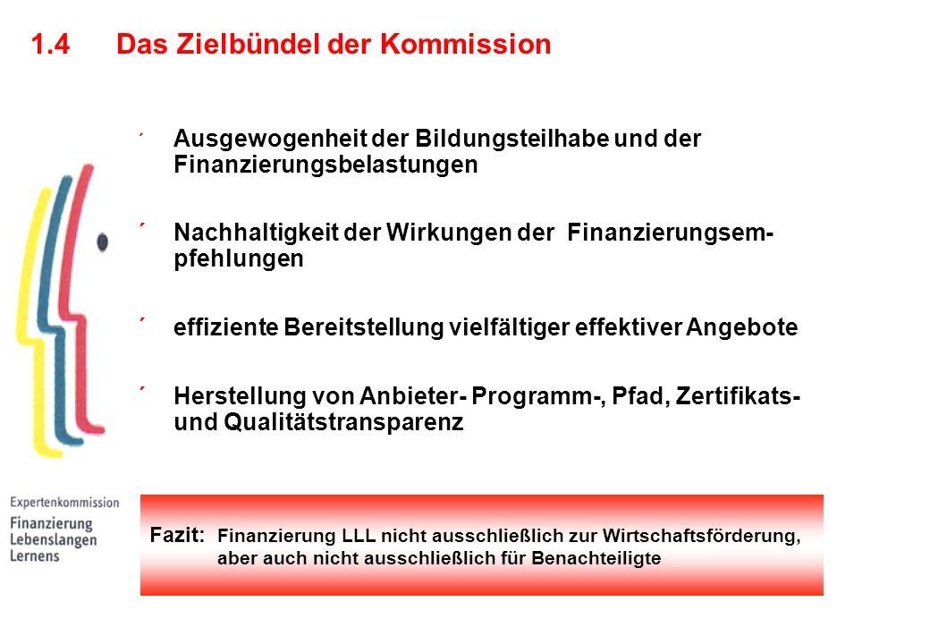 1.4 Das Zielbündel der Kommission