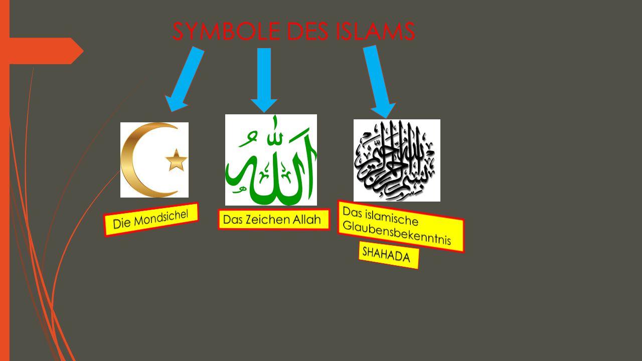 SYMBOLE DES ISLAMS Die Mondsichel Das Zeichen Allah