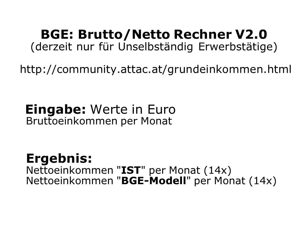BGE: Brutto/Netto Rechner V2