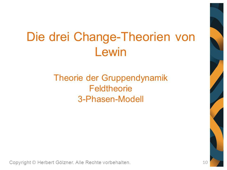 Die drei Change-Theorien von Lewin