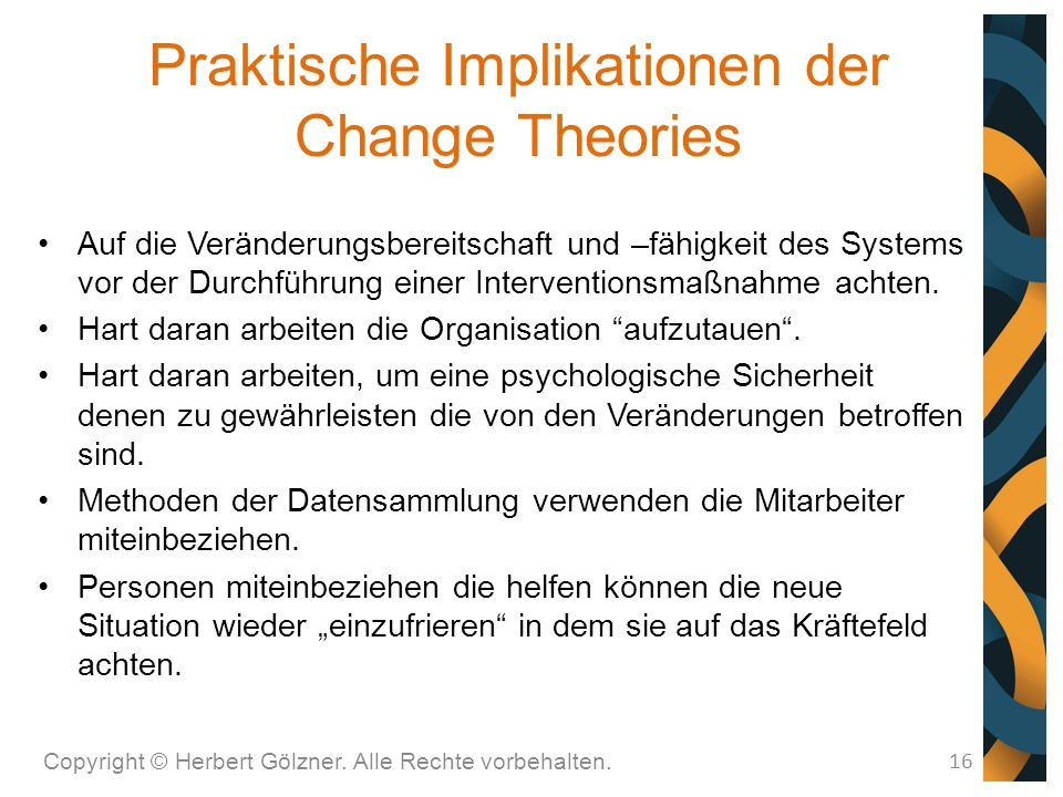 Praktische Implikationen der Change Theories