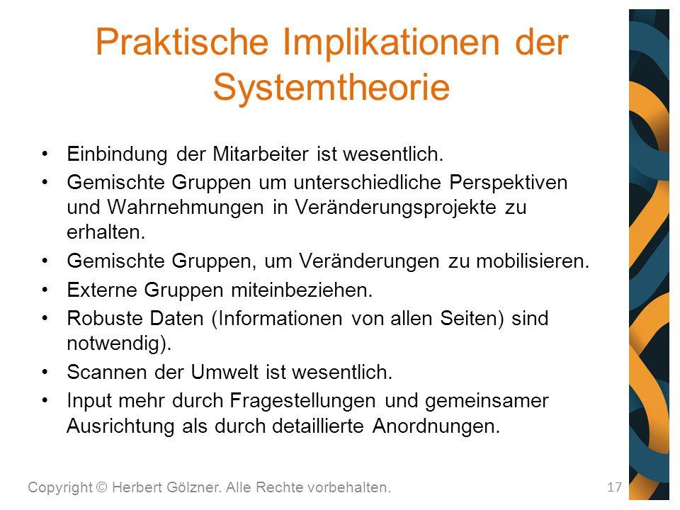 Praktische Implikationen der Systemtheorie