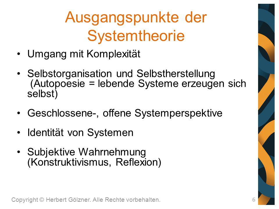 Ausgangspunkte der Systemtheorie
