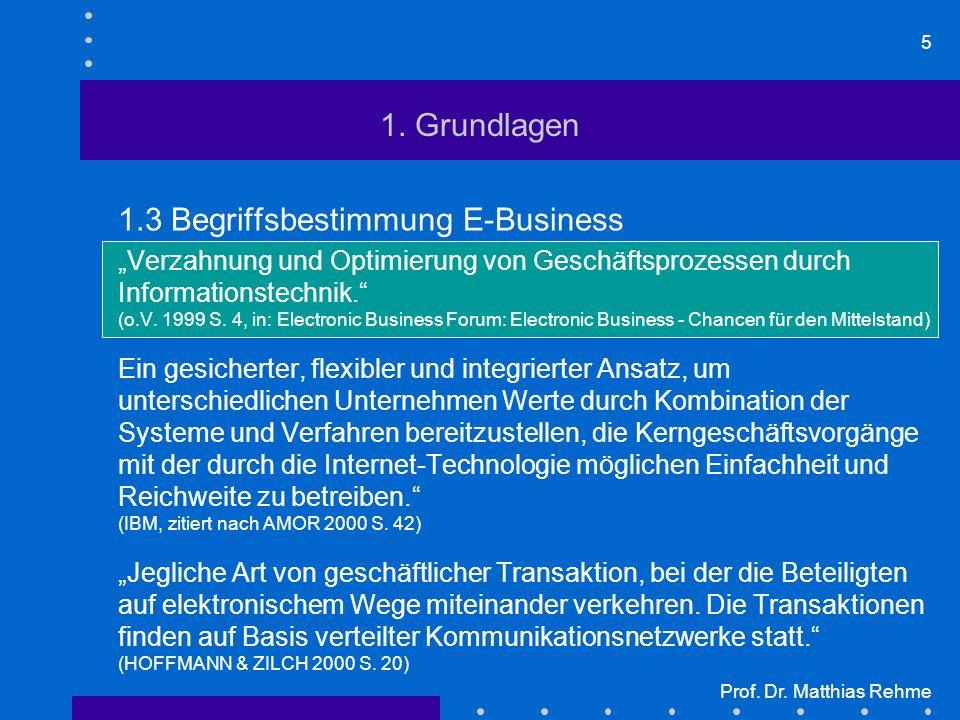1.3 Begriffsbestimmung E-Business