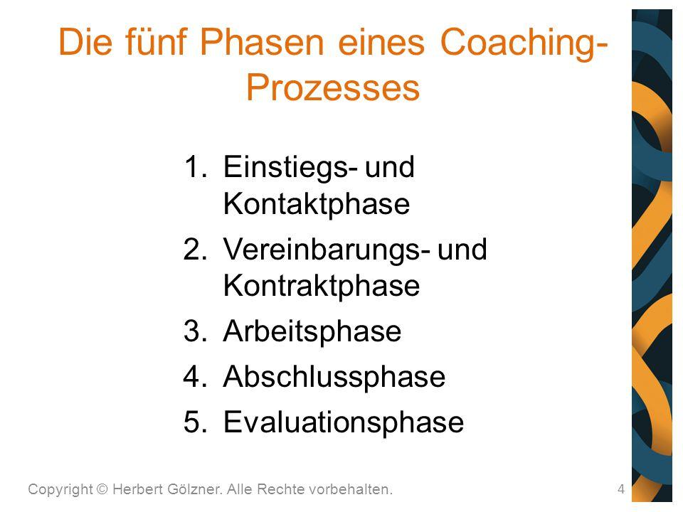 Die fünf Phasen eines Coaching-Prozesses