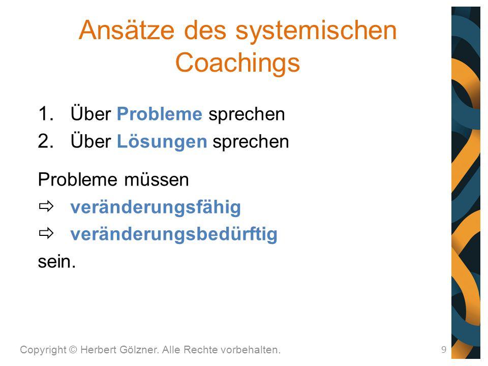 Ansätze des systemischen Coachings