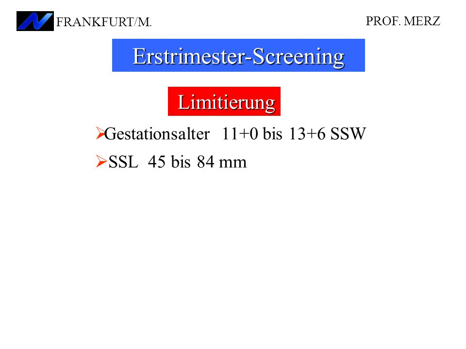 Erstrimester-Screening