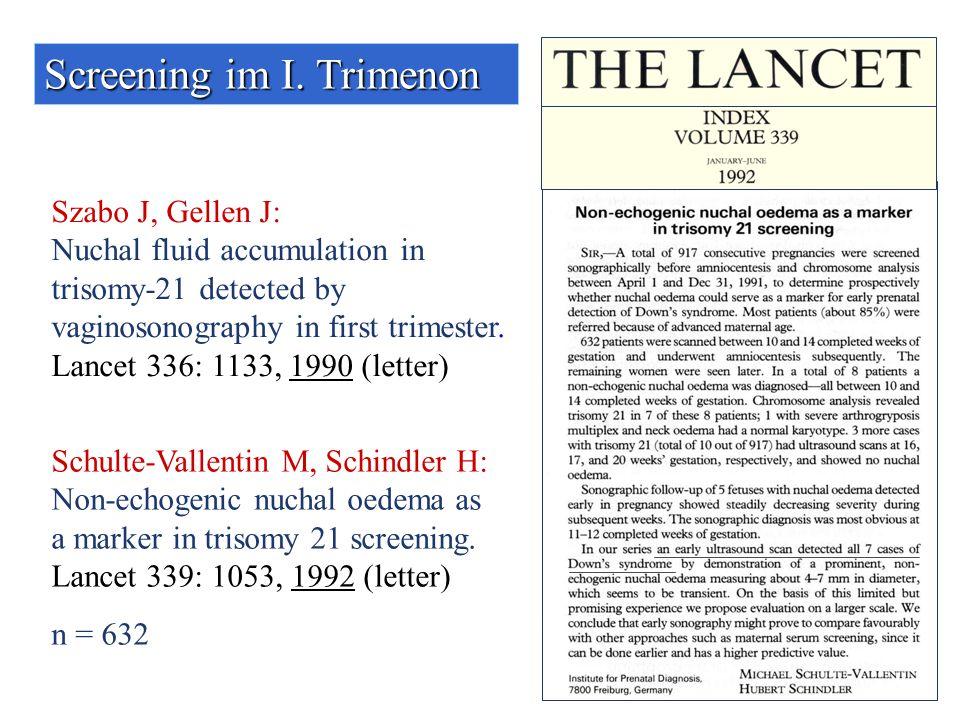 Screening im I. Trimenon