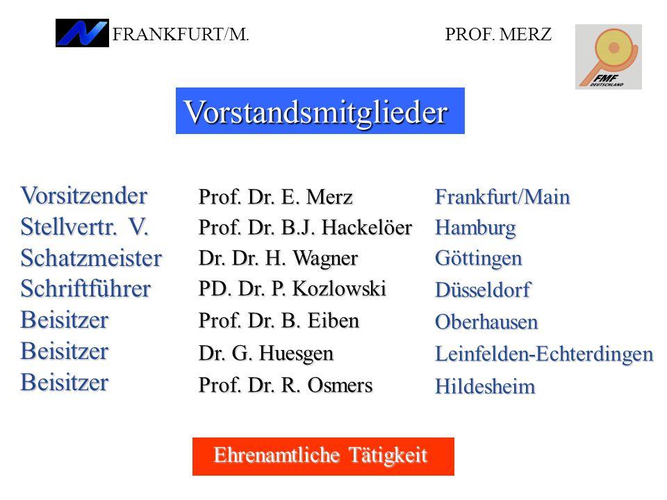 Vorstandsmitglieder Vorsitzender Stellvertr. V. Schatzmeister