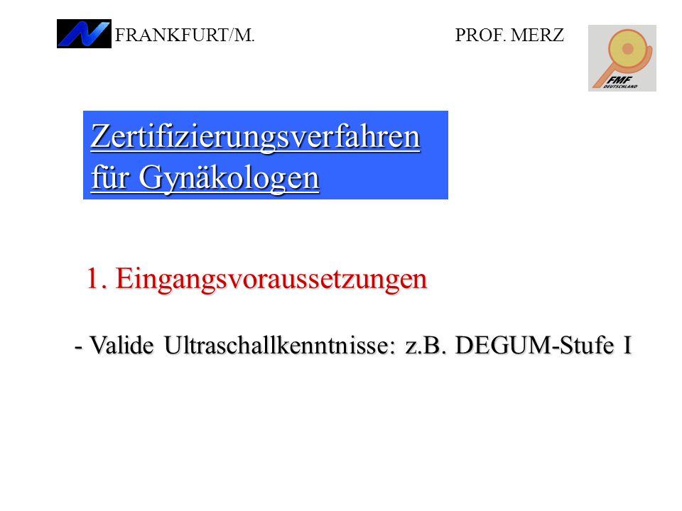 Zertifizierungsverfahren für Gynäkologen