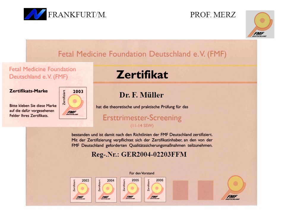 FRANKFURT/M. PROF. MERZ Dr. F. Müller Reg-.Nr.: GER2004-02203FFM 2003