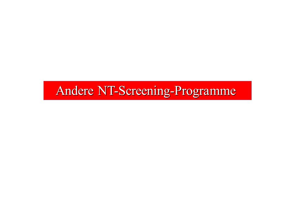 Andere NT-Screening-Programme
