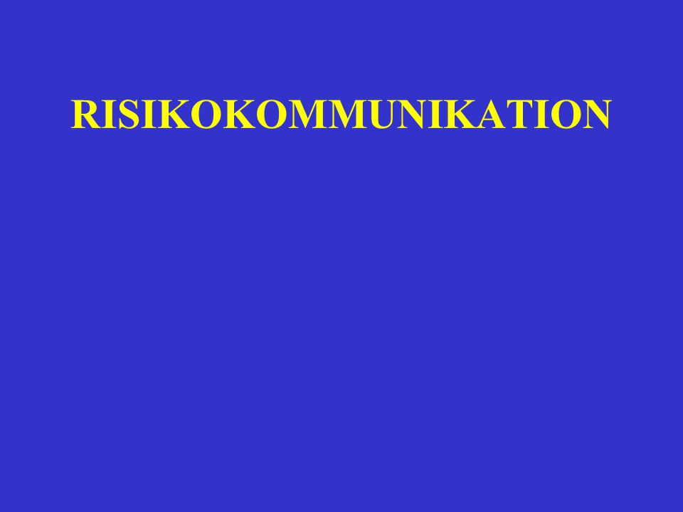 RISIKOKOMMUNIKATION