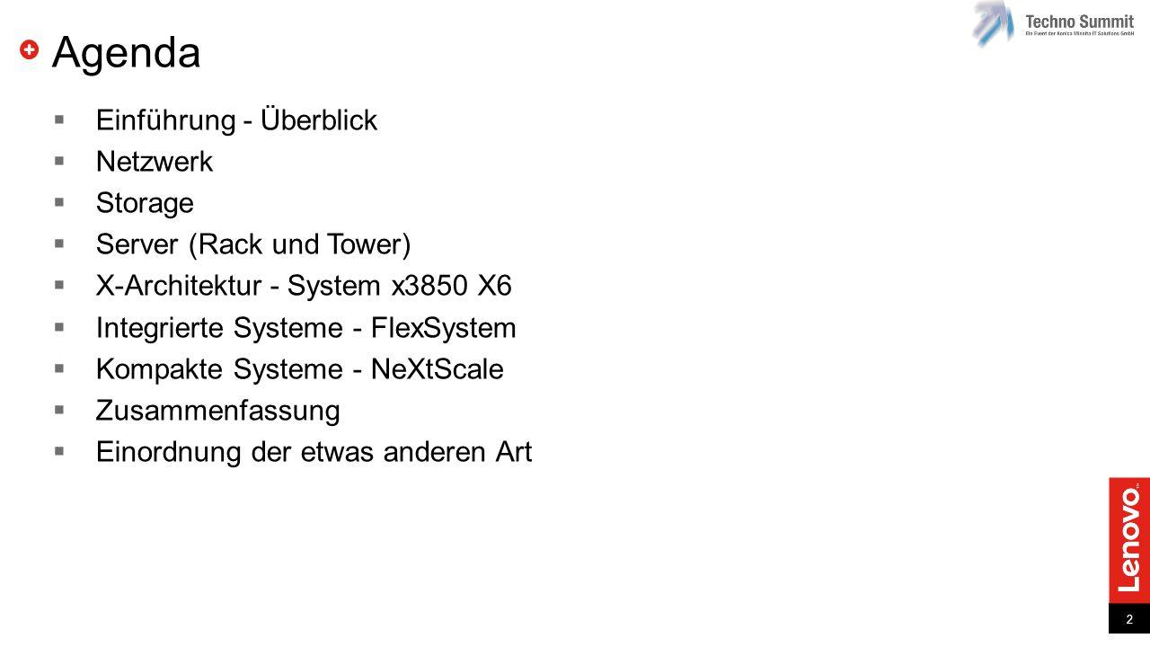 Agenda Einführung - Überblick Netzwerk Storage Server (Rack und Tower)