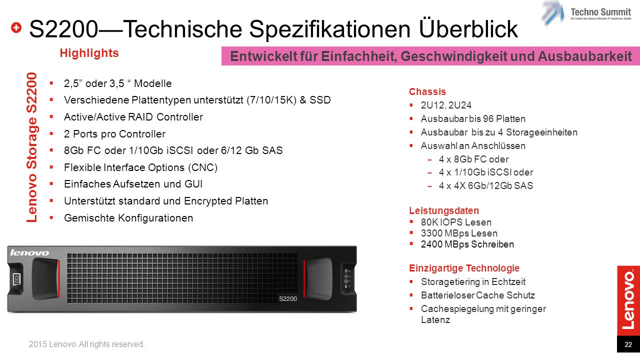S2200—Technische Spezifikationen Überblick
