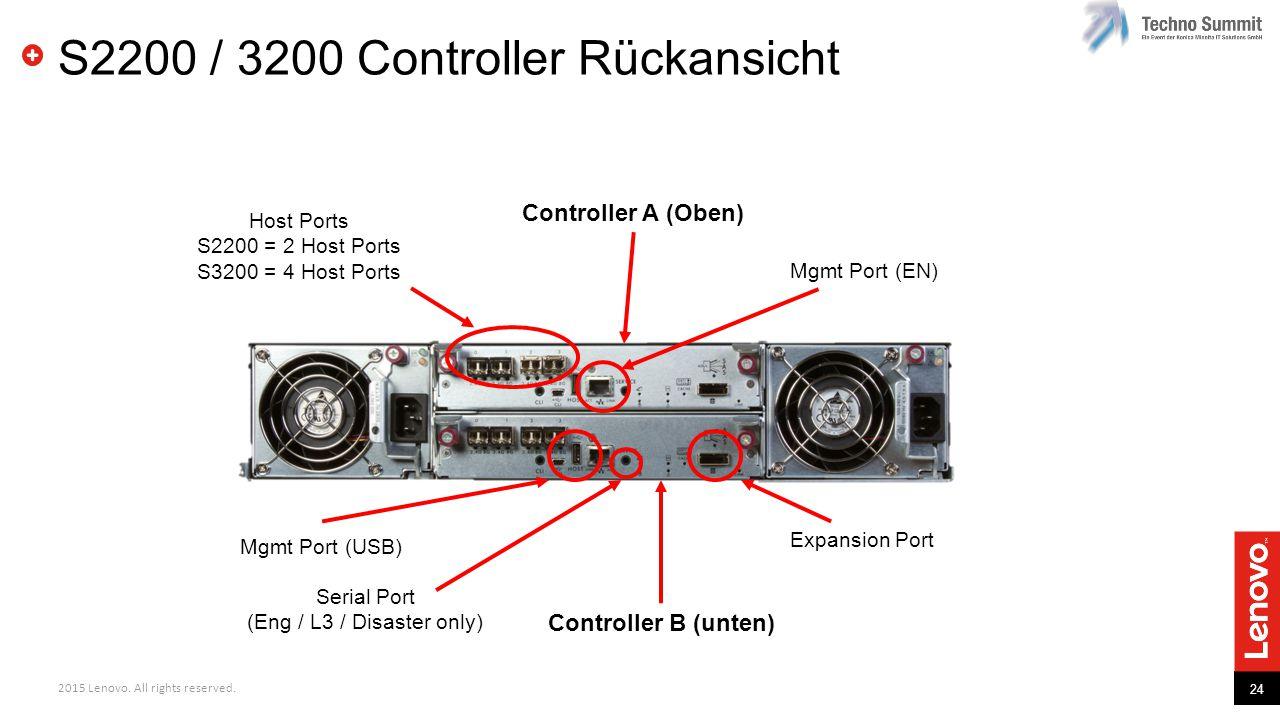 S2200 / 3200 Controller Rückansicht