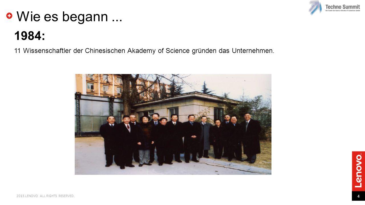 Wie es begann ... 1984: 11 Wissenschaftler der Chinesischen Akademy of Science gründen das Unternehmen.