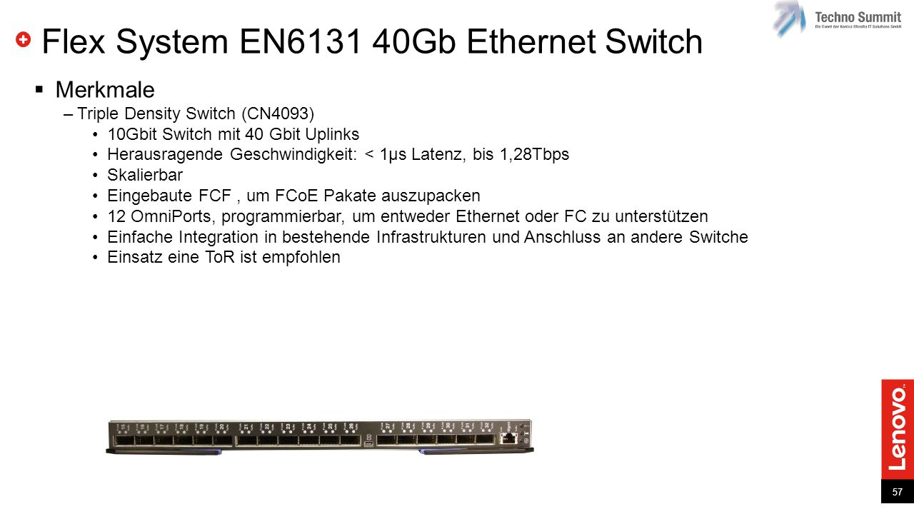 Flex System EN6131 40Gb Ethernet Switch